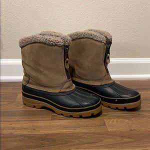 Vintage London Fog winter boots zip-up 7w